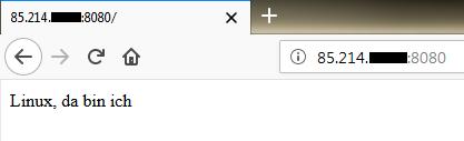 Der Aufruf der Seite im Firefox
